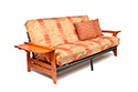 Coral Futon Frame in Cherry