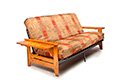 Coral Futon Frame in Honey Oak